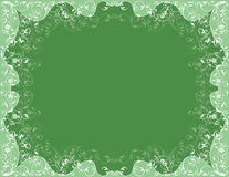 Green patterned frame Stock Photo
