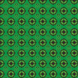 Green patterned wallpaper Stock Photo