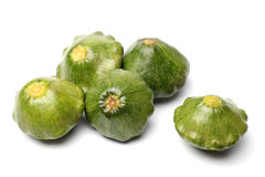 Green pattypan squashes Royalty Free Stock Images