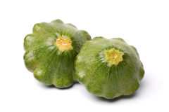 Green pattypan squashes Royalty Free Stock Photography