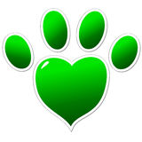 Green paw of an animal Stock Photography