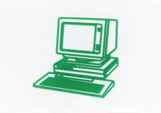 Green PC. Abstract Green PC on white stock photography