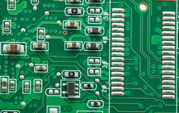 Green pcb Royalty Free Stock Images