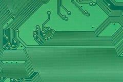 Green pcb board circuit very high detail. Green pcb board circuit very high detail stock photo