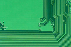 Green pcb board circuit very high detail. Green pcb board circuit very high detail royalty free stock images