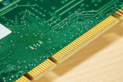 Green PCB board. Electronic PCB or printed circuit board from computer part Royalty Free Stock Photos