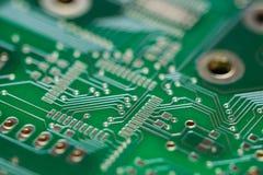 Green PCB (close-up shot) Royalty Free Stock Photography