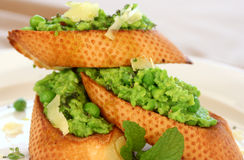 Green Pea Baguette Royalty Free Stock Photos