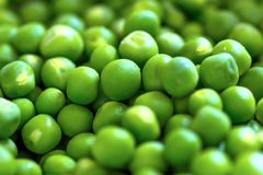 Green pea beads. And nutritious green and fresh Stock Images