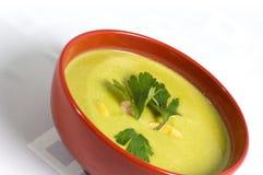 Green Pea Cream Soup Stock Photos