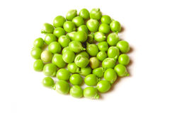 Green pea  isolated on white Stock Photos