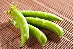 Green pea pods Stock Photo