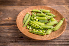 Green pea pods Royalty Free Stock Photo