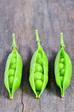 Green pea pods Stock Photo
