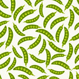Green pea pods seamless pattern Stock Photography