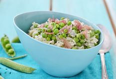Green pea risotto Royalty Free Stock Photos