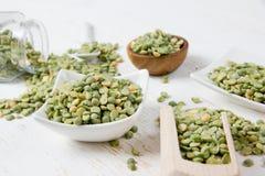 Green Pea Seeds Stock Photo