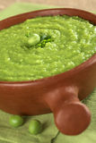 Green Pea Soup Royalty Free Stock Images