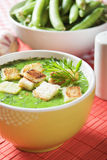 Green pea soup Royalty Free Stock Photo
