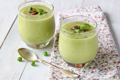 Green pea soup Royalty Free Stock Photos