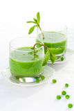 Green pea soup cream Stock Image