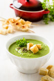 Green pea soup Royalty Free Stock Image