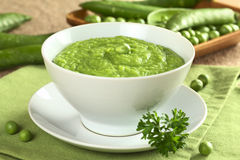Green Pea Soup royalty free stock photography