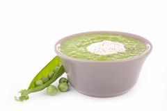 Green pea soup Stock Images