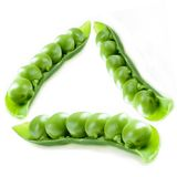 Green pea triangle Royalty Free Stock Photo