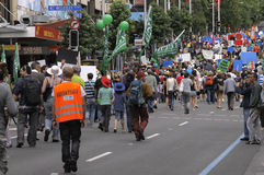 Green Peace Climate Change march Stock Image