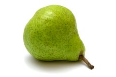 Green pear. Isolated on white background Stock Image