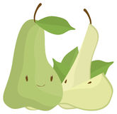 Green Pear. A green pear and two cloves Royalty Free Stock Photos