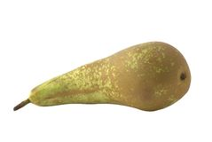 Green pear. Isolated over white Stock Images