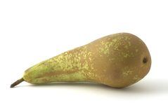 Green pear. On the background Royalty Free Stock Photo