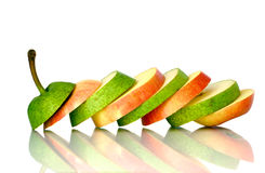 Free Green Pear And Red Apple Slices Royalty Free Stock Image - 10771166