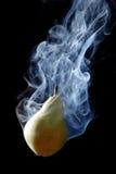 Green Pear And Smoke Royalty Free Stock Photo