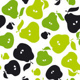 Green pear fruit seamless pattern for fabric Royalty Free Stock Images