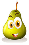 Green pear with happy face Stock Photography