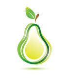 Green pear icon Stock Images