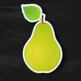 Green pear isolated on black background Stock Photography