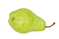 Green pear isolated on white Royalty Free Stock Photography