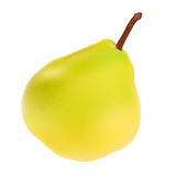 Green Pear Isolated on White Background Vector Stock Images