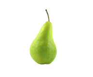 Green pear. Juicy green pear presented on a white background Royalty Free Stock Photos