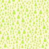 Green pear on the pale yellow background. Seamless pattern Royalty Free Stock Images