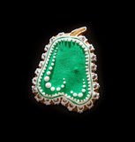 Green pear shaped gingerbread cookie, Christmas theme Stock Photography