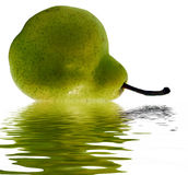 Green pear in water Royalty Free Stock Photo