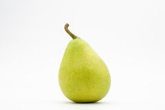 Green pear on white background Royalty Free Stock Images
