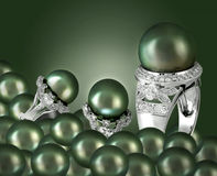 Green pearl Royalty Free Stock Images