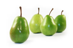 Green pears Stock Photos