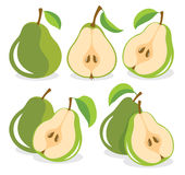 Green pears Royalty Free Stock Images